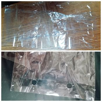 Polypropylene bag 190x445+30 mm